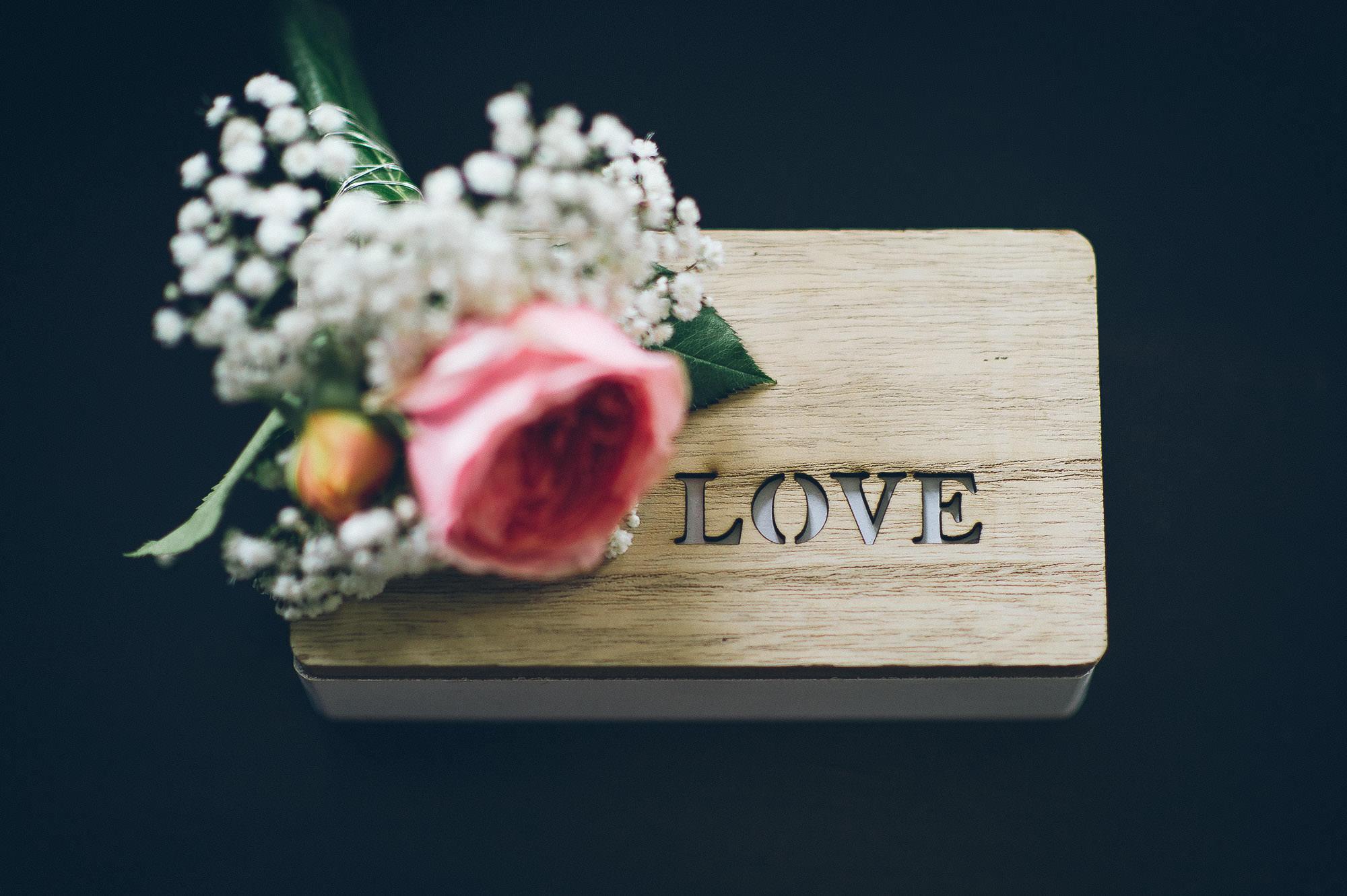 Vintage Ringschatulle für Hochzeit