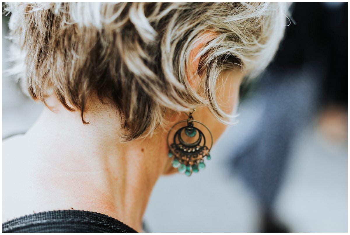 Ohrringe auf Hochzeit