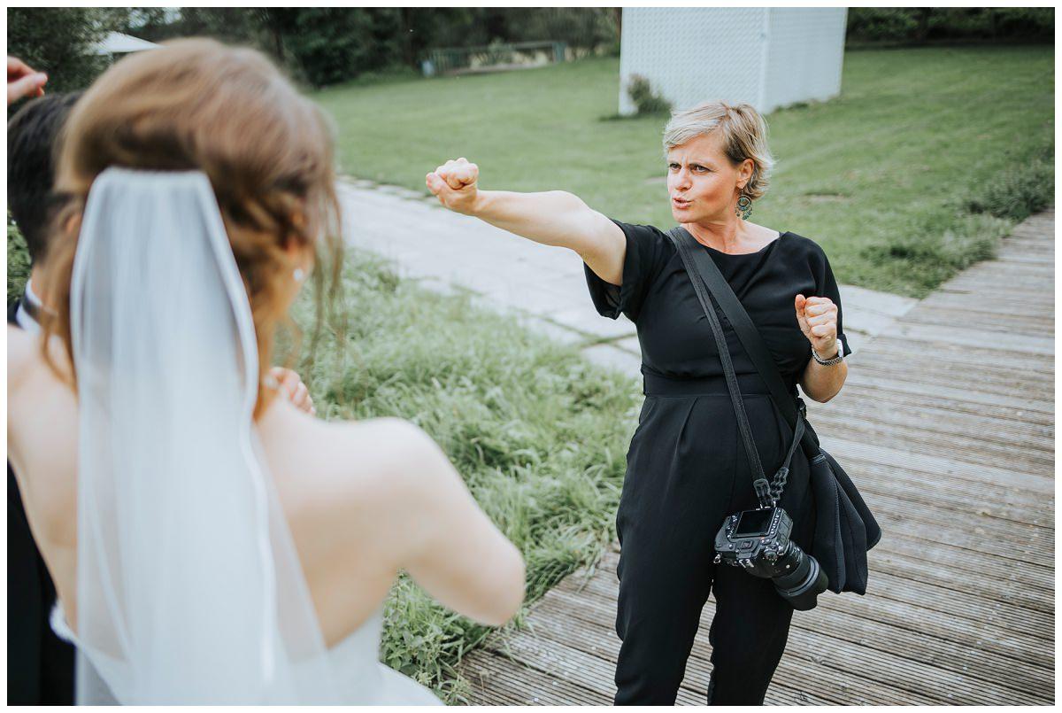 Hochzeitsfotografin Stephanie Kunde in Action